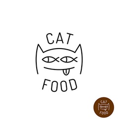 Cat face logo vector image vector image