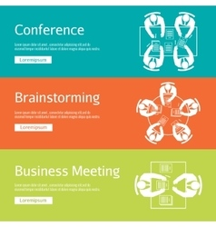 Conference business meeting and brainstorming vector image