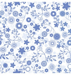Flower abstract seamless background vector image vector image