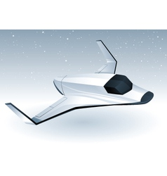 futuristic space shuttle vector image vector image