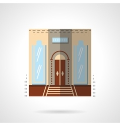Hotel entrance flat color icon vector image