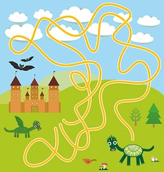labyrinth game With Castle fairytale landscape vector image