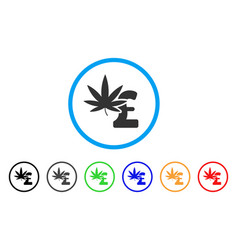 marijuana pound business rounded icon vector image