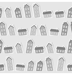 Monochrome paper town seamless pattern vector image vector image