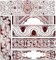 set of border vector image vector image