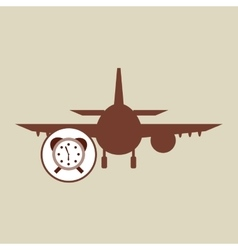travel concept service alarm hotel silhouette vector image