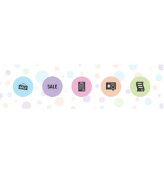 5 representative icons vector
