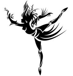 Abstract dancer vector