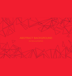 Abstract explosion background polygonal pattern vector