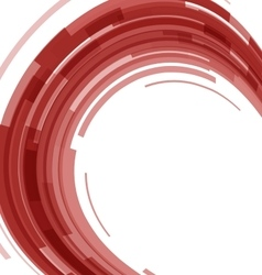 Abstract red technology circles distorted vector image