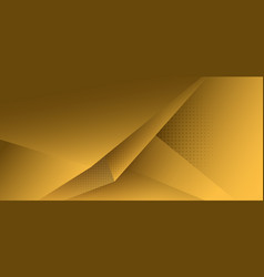 Abstract yellow polygon triangle gradient vector