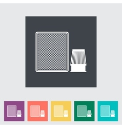 Automotive filter flat icon vector image