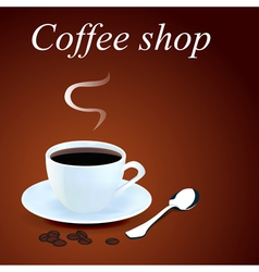 background with a mug of coffee vector image