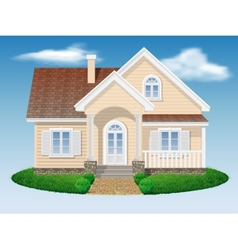 beautiful small residential house vector image
