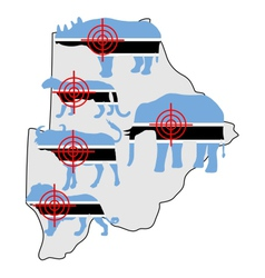 Big five cross hairs botswana vector
