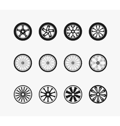 Bike car and wooden wheels vector