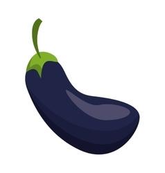 Cartoon eggplant natural vegetable icon vector