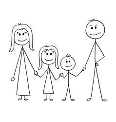 Cartoon of happy family vector
