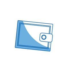 cartoon wallet money concept safety bank icon vector image