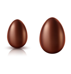 chocolate egg whole realistic vector image