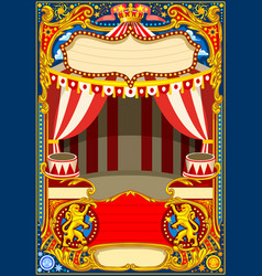 circus cartoon decoration vector image