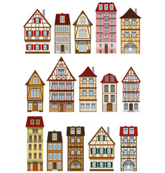 classic european houses vector image