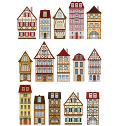Classic european houses vector
