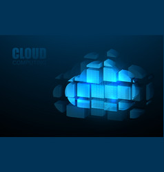 cloud computing online storage iot digital vector image