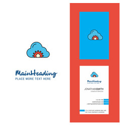 cloud setting creative logo and business card vector image