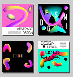 colorful abstract covers design templates modern vector image