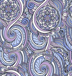 Colorful seamless pattern in a zentangle style vector