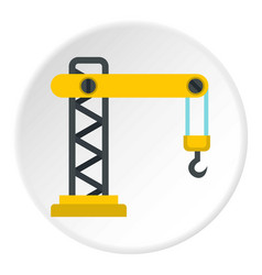Crane icon circle vector