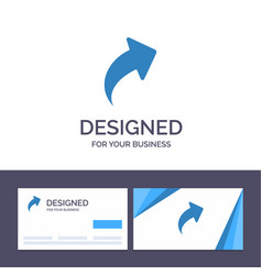 creative business card and logo template arrow up vector image