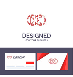Creative business card and logo template coin vector
