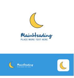 Creative cresent logo design flat color logo vector