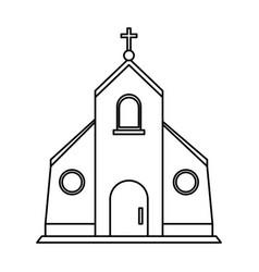 Cristian or catholic church chapel icon image vector