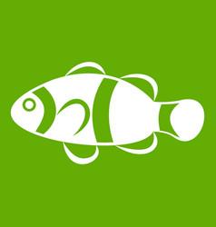 cute clown fish icon green vector image