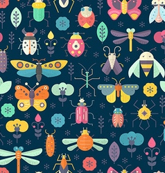 Dark Bug Pattern vector