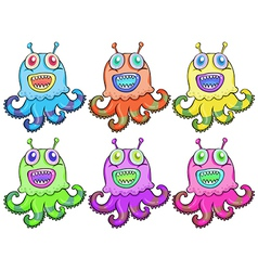 Different colors of an octopus toy vector image