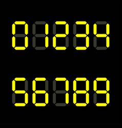 digital number zero to ten led display alphabhet vector image