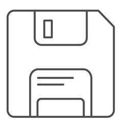 Diskette thin line icon memory vector