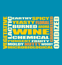 drink alcohol beverage wine tastes words cloud vector image