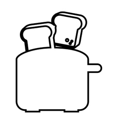 electric toaster isolated icon design vector image
