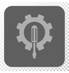 Engineering Rounded Square Button vector image