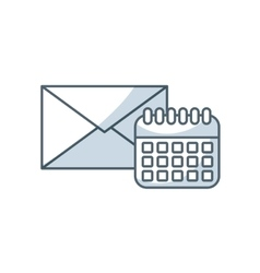 envelope letter with social media icon vector image