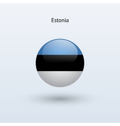 Estonia round flag vector