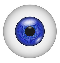 eye vision icon realistic style vector image