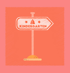flat shading style icon sign kindergarten vector image