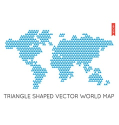 Flat World Map Infographic Map of the World vector image