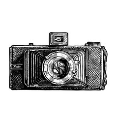 folding camera vector image